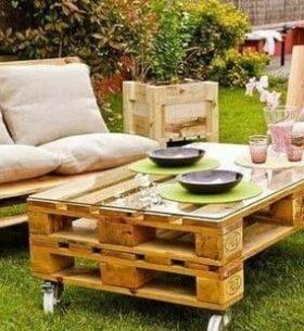ideas palets jardin