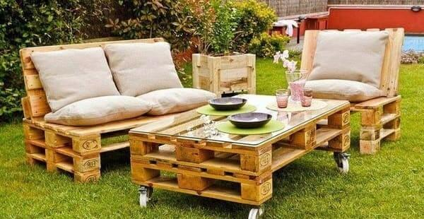 ideas palets jardin