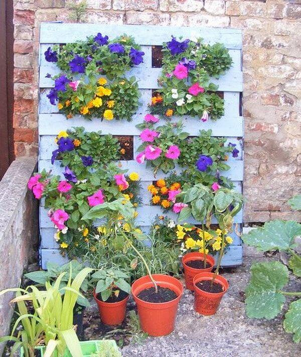 jardin vertical con palets