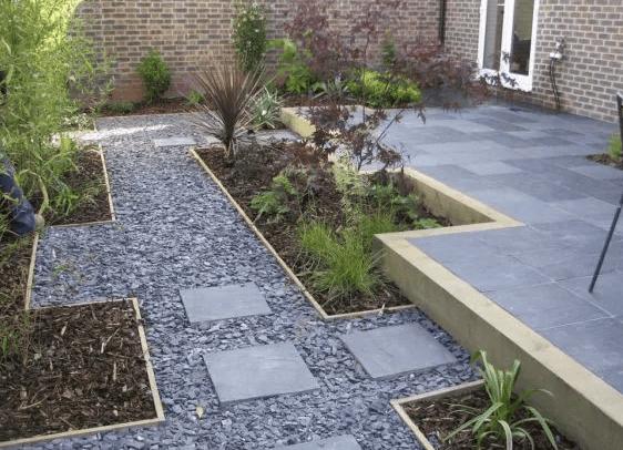 caminos de piedra para el jardin