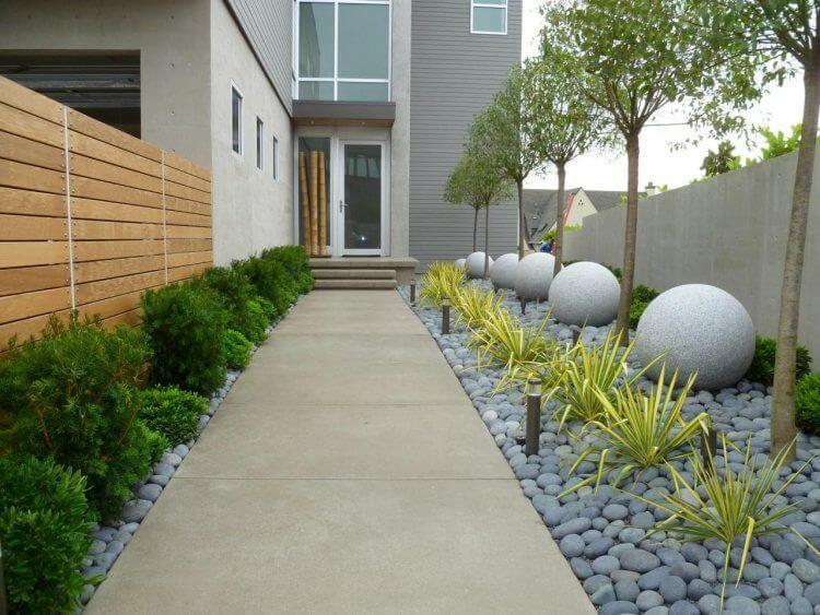 Construcción de jardines con piedras
