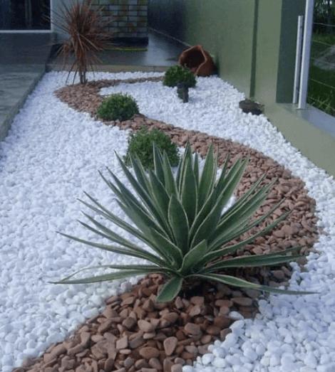suelo de piedra para el jardín