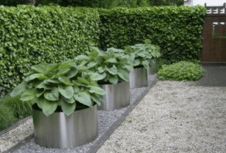 elementos inoxidable jardines