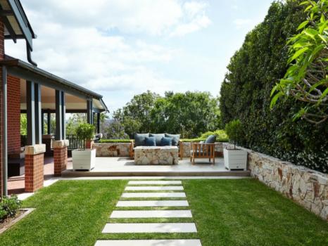 diseño de jardines con los losas