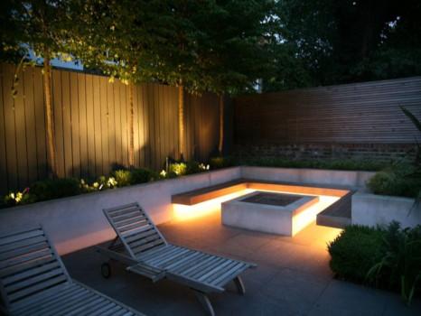 iluminación jardín zonas comunes
