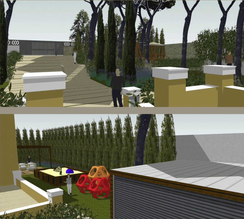 diseño exterior jardín