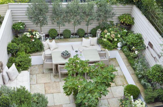 ejemplo de un jardin pequeño